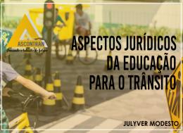 ASPECTOS JURÍDICOS DA EDUCAÇÃO PARA O TRÂNSITO