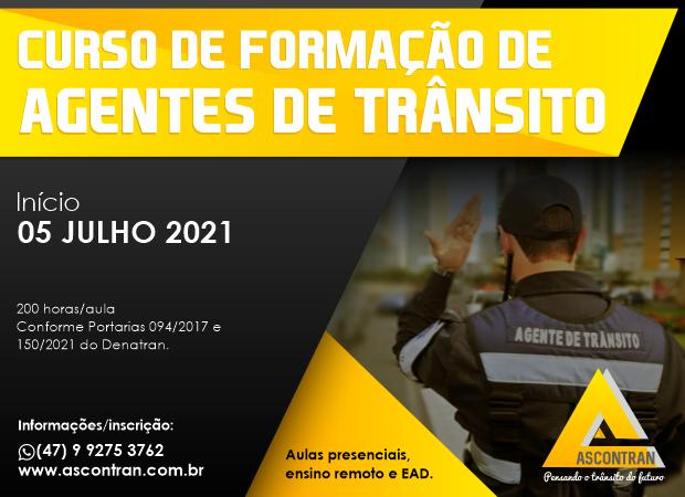 CURSO DE FORMAÇÃO DE AGENTES DE TRÂNSITO - SEMIPRESENCIAL