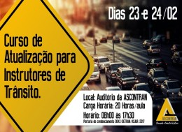 CURSO DE ATUALIZAÇÃO PARA INSTRUTORES DE TRÂNSITO